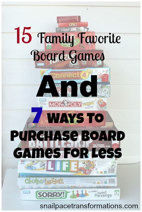 A list of family favorite board games and 7 ways to buy them for less.
