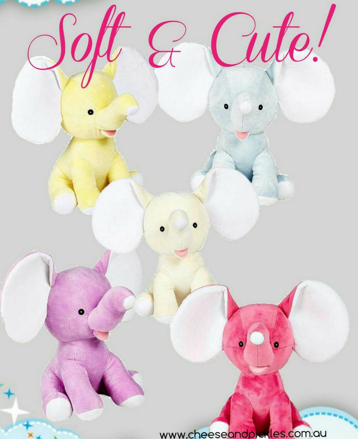 Dumble Elephants can be personalised on each ear for any occasion  http://teddybearsandgifts.com.au/hug-me-cubby-dumble-elephant-blue-single-name/