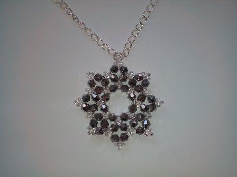 Pearls and Crystals Earrings. Серьги из бисера жемчуга и кристаллов - YouTube