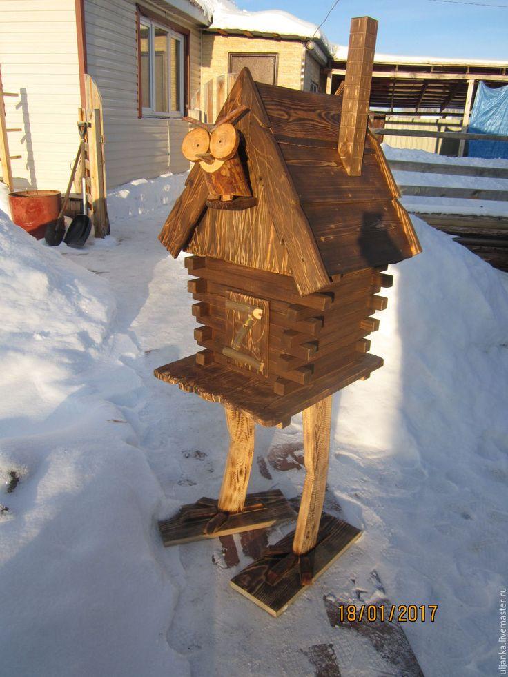 Купить Домик бабы Яги - декоративный элемент, декоративный домик, ландшафтный дизайн, Игровой домик