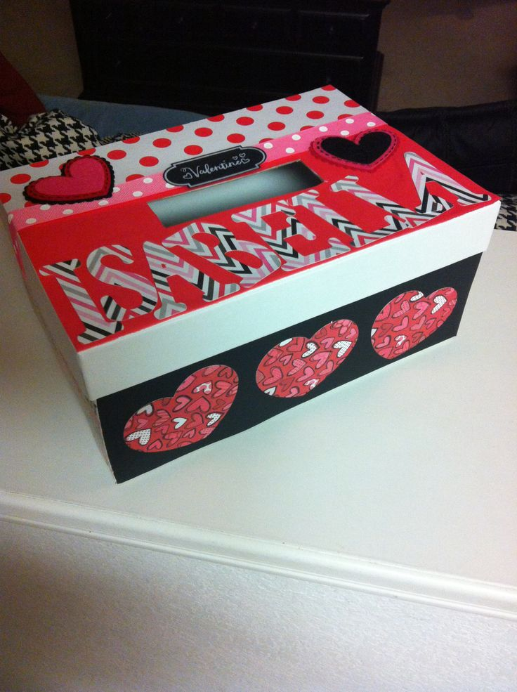 How To Decorate A Valentine Box Unique 16 Best Valentine Box Images On Pinterest  Valentine Crafts Decorating Design