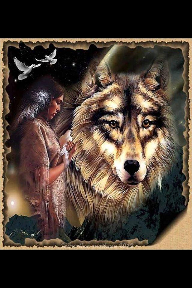 Spirit Guides: Doves & Wolves.