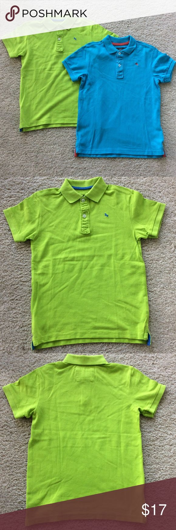 👫H&M Blue and Green Polo Shirts Set of 2 H&M Polo Shirts. Short sleeves. Size Boys 6-8 yrs. 100% cotton. Preloved with slight signs of wash and wear. H&M Shirts & Tops Polos
