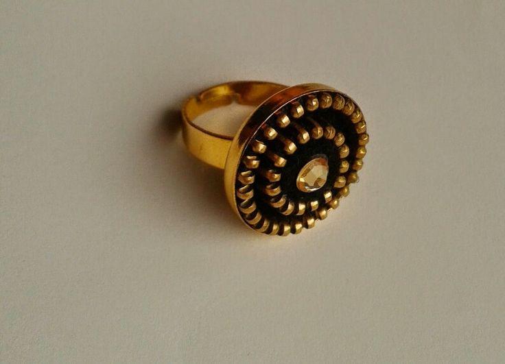 Pierścionek z zamka.            Zipper ring