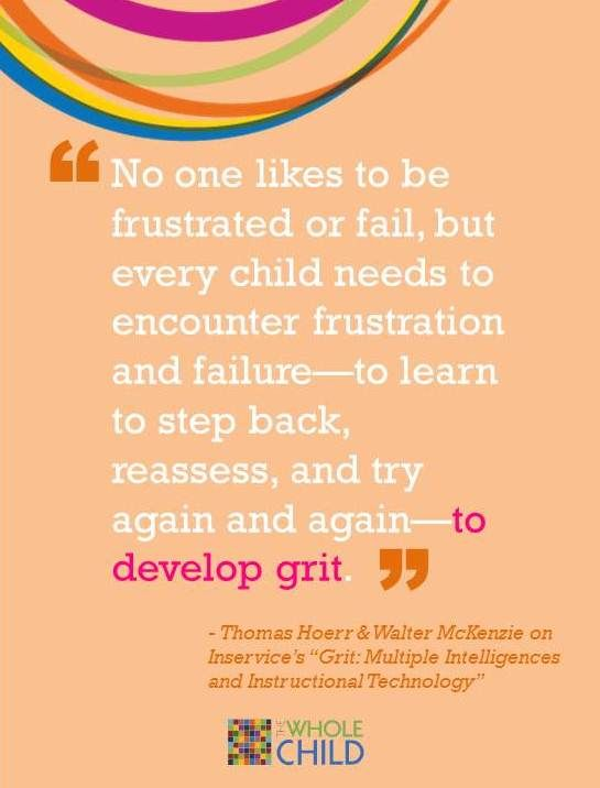 Read more about grit, multiple intelligences and instructional technology.