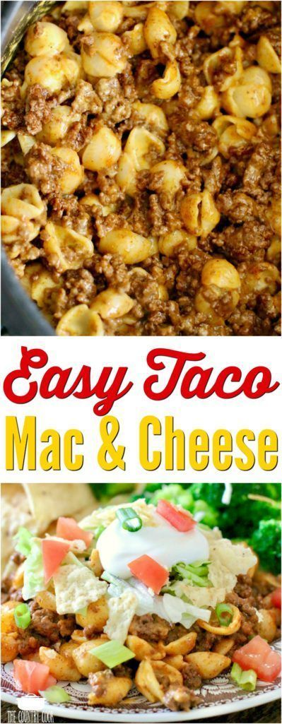 Easy Taco Mac and Cheese recipe from The Country Cook