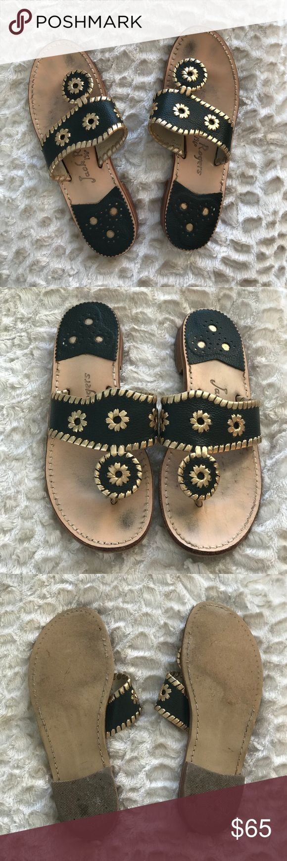 Jack Rogers sandals Jack Rogers Naples sandals in great condition, barley worn! All stitching and design like new. Jack Rogers Shoes Sandals