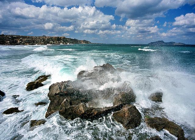 Heavy Surf, Favignana Island, Sicily    #Sicily #Favignana #Italy