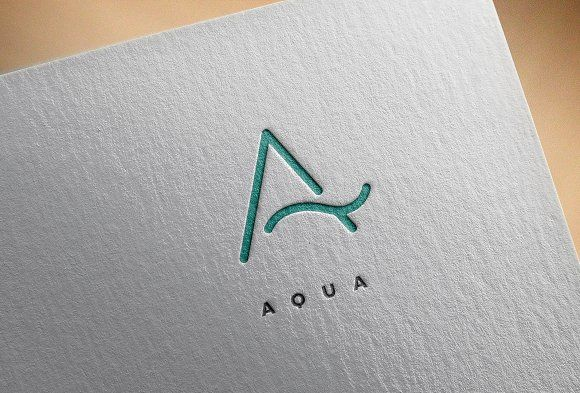 A Letter Logo / Aqua Logo by Michael Rayback on @creativemarket