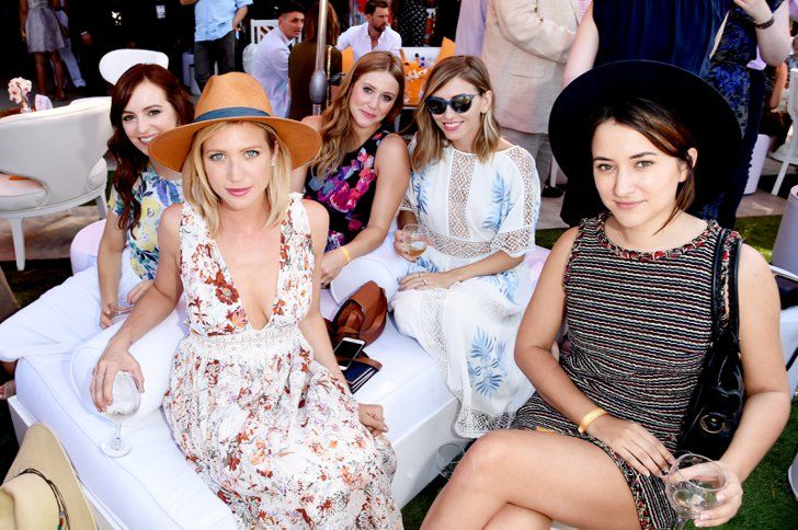 Pin for Later: Hollywood's Hottest Stars Step Out For a Fancy Polo Match Ahna O'Reilly, Brittany Snow, Julianna Guill, and Zelda Williams