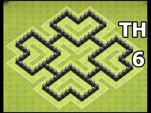 Town Hall 6 Trophy & War Base | Best CoC TH6 War/Trophy Base Defense | Clash of Clans - YouTube