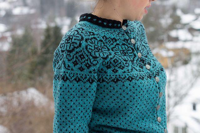 Ravelry: Elins kofte pattern by Wenche Roald