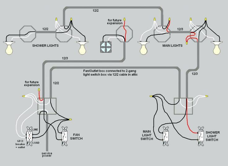 Wiring Lights And Outlets On Same Circuit Diagram Basement