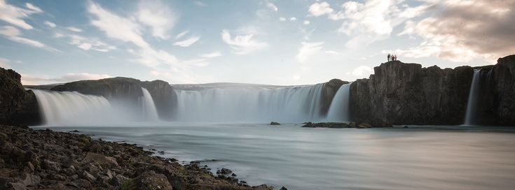 Goðafoss waterfall is less than an hours drive from Akureyri