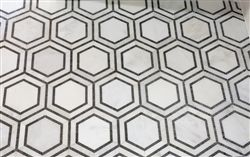 http://store.missionstonetile.com/Hex-Appeal-5-Inch-White-Basalt-Grey-Mosaics-p/hex-appeal-carrara.htm, $15.99