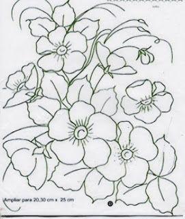 Flores Silvestres Para Pintar Dibujos Para Pintar O Bordar