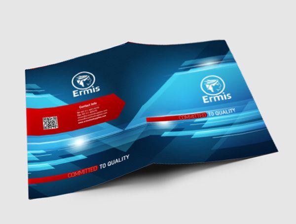 Ermis Corporate Brochure Design by Pavlos Katsigiorgis, via Behance