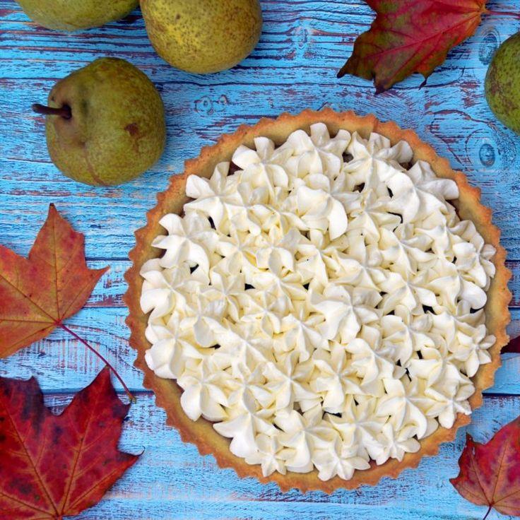 Sós karamelles-körtés tart mascarponehabbal - őszi pite recept  Salted caramel-pear tart with mascarpone cream