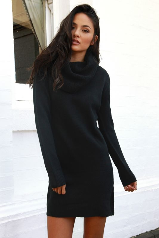 Madison Square Anarchy Roll Neck Knit Dress