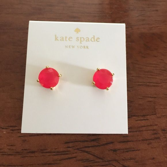 ♠️KATE SPADE Earrings♠️ ♠️Kate Spade earrings♠️Pink with Gold trim studs... New kate spade Accessories