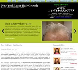 Website design for New York Laser Hair Regrowth....