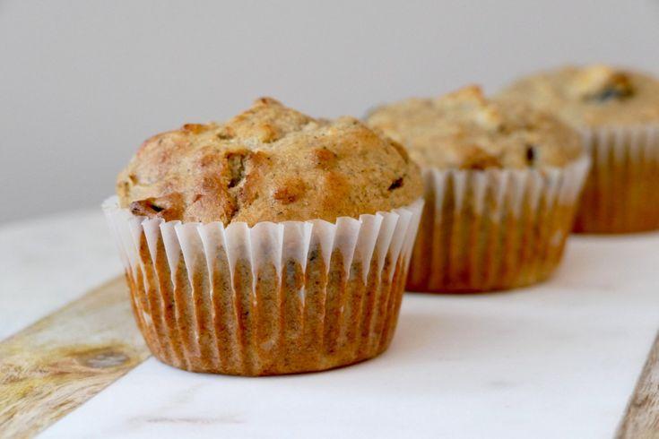 Muffins aux pommes, à l'érable et à la farine de sarrasin