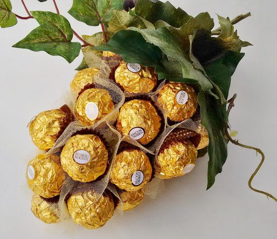 Bunch of grapes Ferrero Rocher Chocolate by ElenaHandmadeGifts