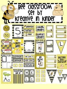 Bees Theme Classroom Decor for Beginning of Year {$4}