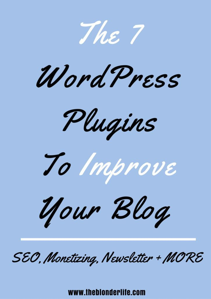 WordPress Plugins To Improve Your Blog