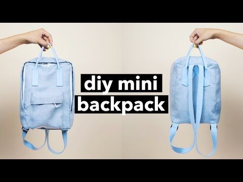 DIY Mini Backpack From Scratch! (Fjällräven Kånken style) - YouTube, She made a really cute mini backpack. On youtube @withwendy #DIY #backpack