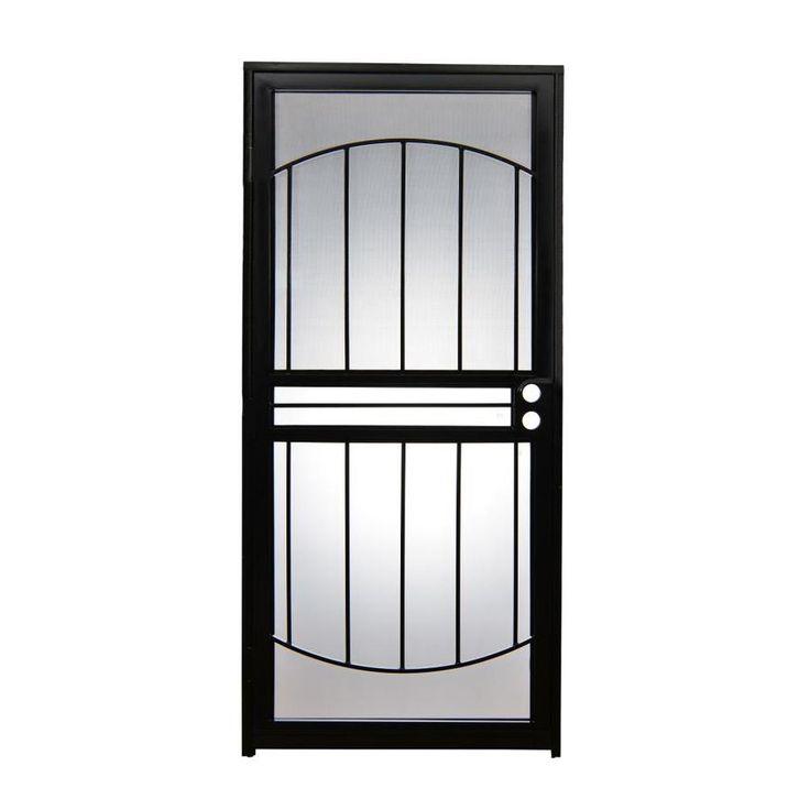 Gatehouse Geneva Black Mid-view Steel Blinds Between the Glass Storm Door (Common: 36-in x 80-in; Actual: 35-in x 78.5-in)