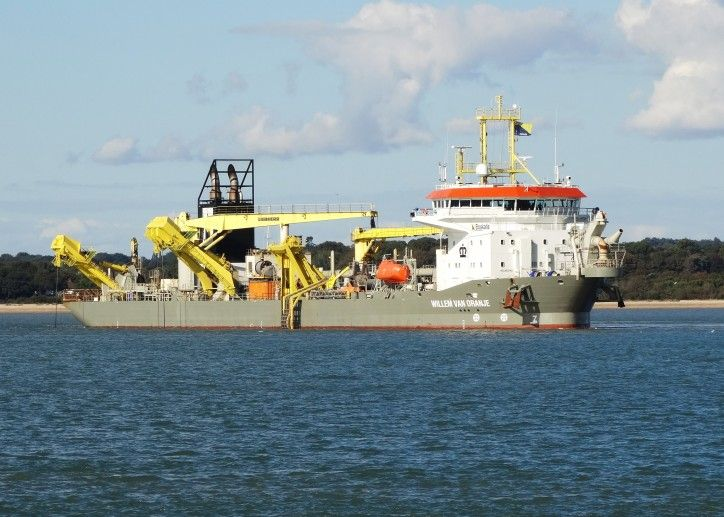 In the beginning of July, the suction hopper dredger Willem van Orange is expected to begin the second campaign of infilling of Liverpool2 area.