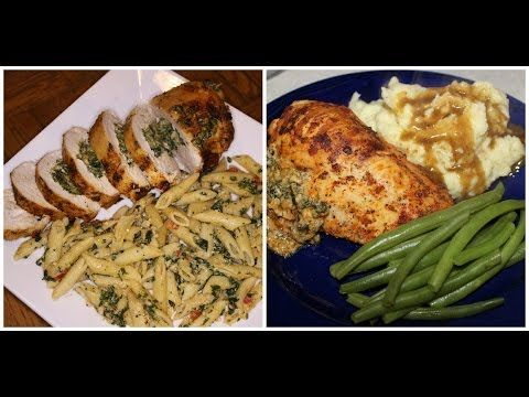 ▶ Stuffed baked chicken breast with spinach and cheeses ....Cooking With Queenii - YouTube