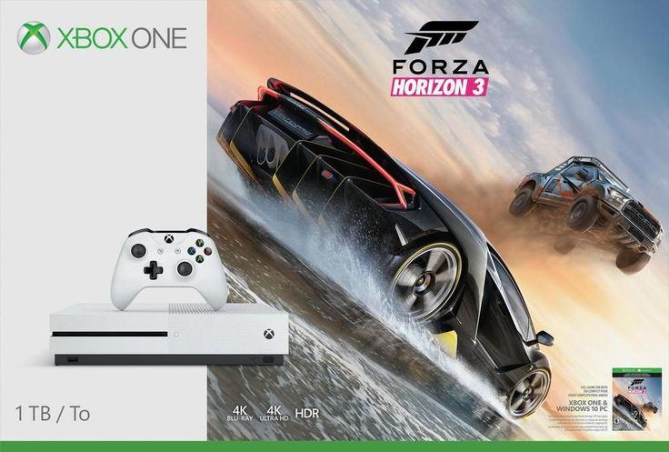Microsoft - Xbox One S 1TB Forza Horizon 3 Console Bundle with 4K Ultra HD Blu-ray™ - White, 234-00105