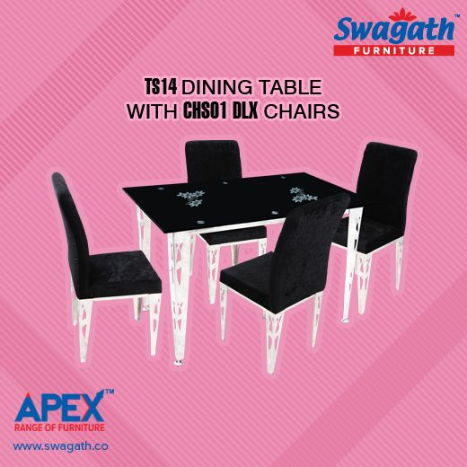 Executive TS14 dining #table with CHS01 DLX #chairs from Swagath's Apex range of #furniture can match any interior design and style!!