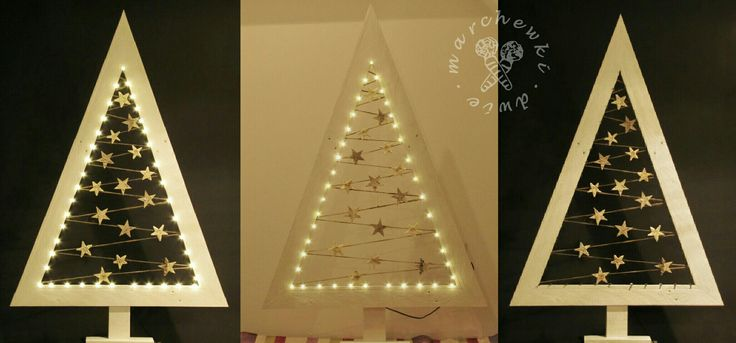 Christmas tree. Made of pallet, hemp twine and birch bark and straw stars https://www.instagram.com/dwie_marchewki