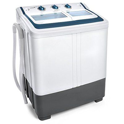 Ivation Small Compact Portable Washing Machine - Twin Tub Washer & Dry with 12.12 Lb. Wash Capacity & 7.7 Lb.