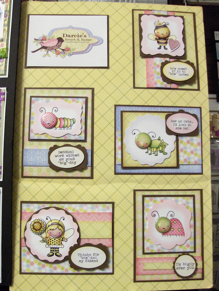 Darcie's March board - more adorable Tin Pin faces and stamp sets!