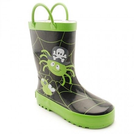 Spider Glow Black Boys Water Resistant Wellies - Boys Boots - Boys Shoes http://www.startriteshoes.com/boys-shoes/boots/spider-glow-black-boys-water-resistant-wellies