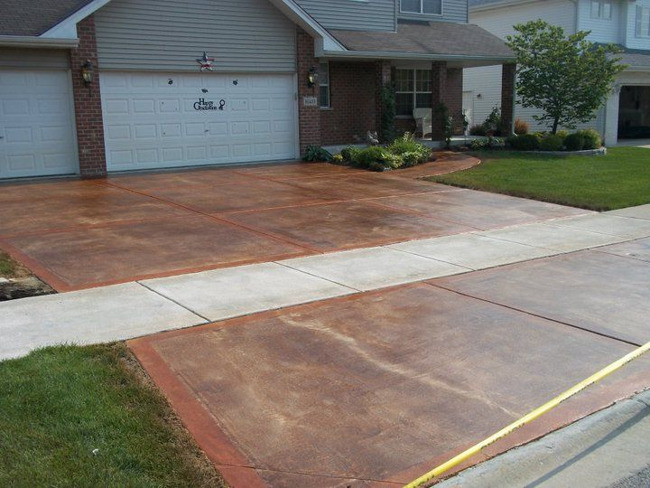 12 Best Driveway Images On Pinterest Stained Concrete