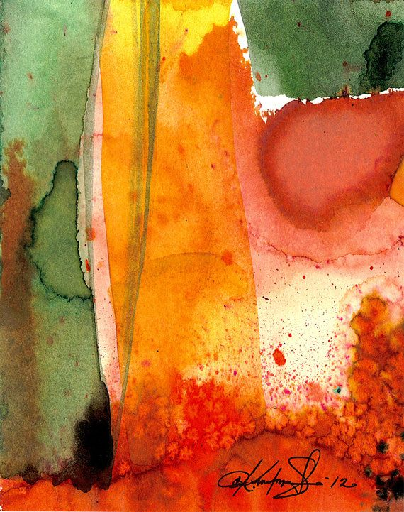 Watercolor Magic  Original abstract by KathyMortonStanion on Etsy, $25.00