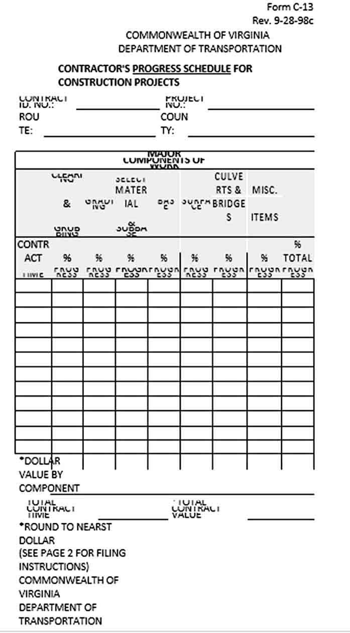 Construction Work Schedule Template Schedule Template Work Schedule Construction Work [ 1259 x 697 Pixel ]