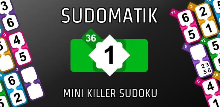 SUDOMATIK Mini Killer Sudoku - your favorite Killer Sudoku puzzle in a mini 6-by-6 grid  Android: https://play.google.com/store/apps/details?id=com.orangespicegames.sudomatik  Windows: https://www.microsoft.com/store/apps/9nblggh440sx