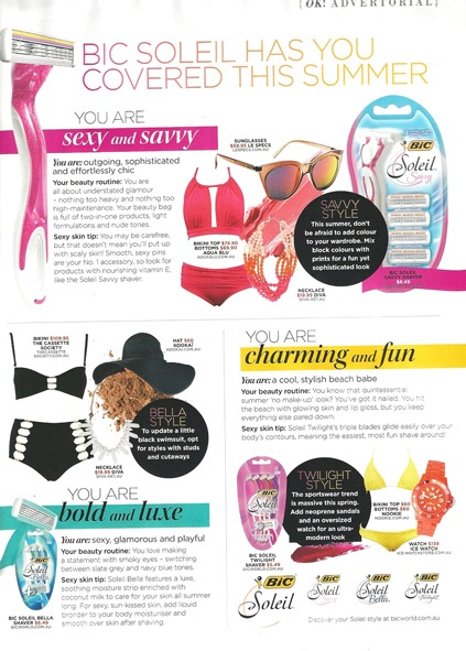 NOOKIE BEACH Bikini Triangle & Brief in OK! Magazine