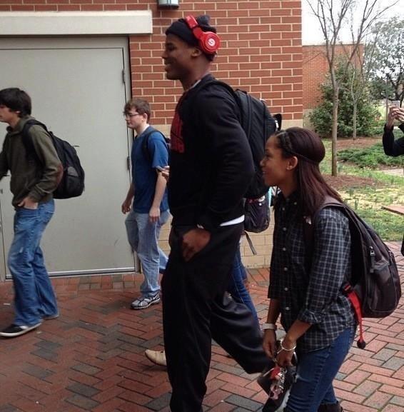 Carolina QB Cam Newton taking classes at Auburn via @Samantha_E_Link