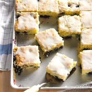 Blueberry Zucchini Squares Recipe from Taste of Home (Cupcake Recipes From Box)
