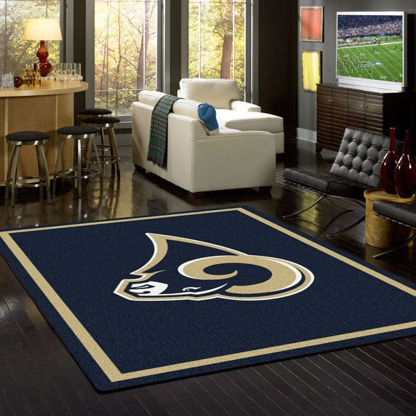Los Angeles Rams NFL Team Logo Spirit Rug