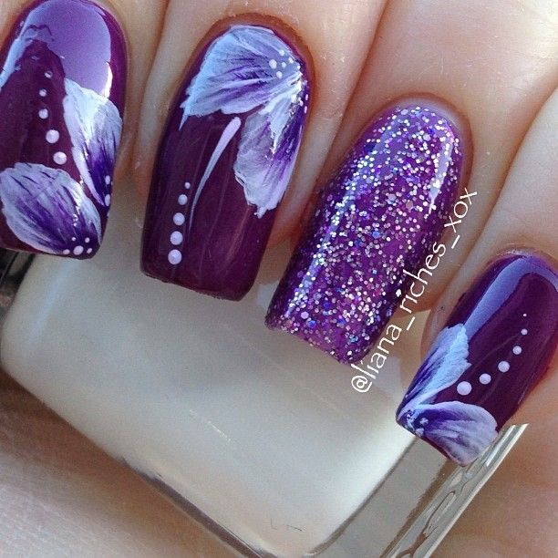 Instagram photo by liana_riches #purple #nails #nailart