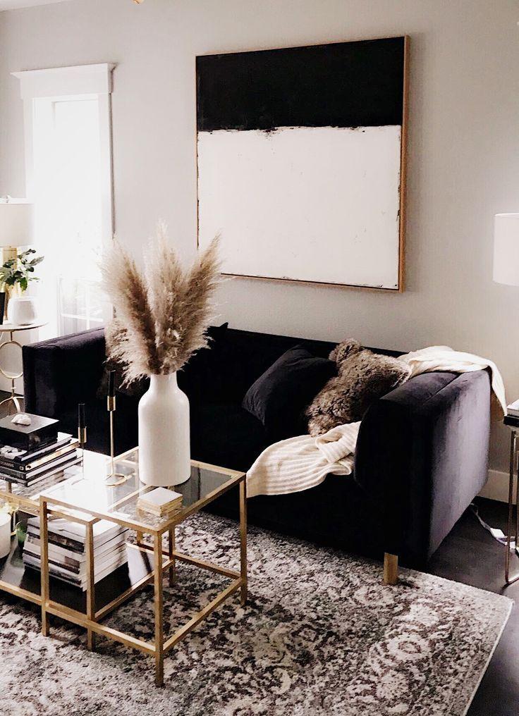 Home living room fall decor