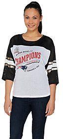 NFL Super Bowl 51 Champions New England Patriots Womens Mesh Top